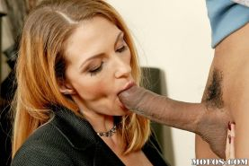Interracial milf sex with blowjobs and a brunette