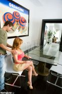 Horny redhead Janet Mason is in the mood for an afternoon quickie