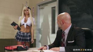 Raven Bay and Rikki Six fucked in their classroom
