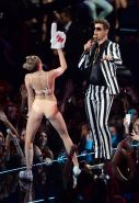 Miley Cyrus in latex undies getting humped on stage at the 2013 MTV Video Music