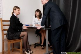 Secretary interview with sudden strip tests