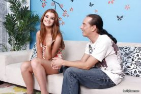 Redhead teen Ava Sparxxx in hardcore couple action