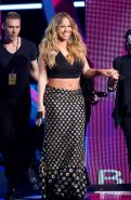Chubby Mariah Carey showing huge cleavage at the Black Girls Rock Show