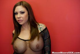 Tattoo Pornstar Mason Moore gets a hardcore anal fuck and squirts all over
