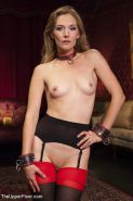 Kiki Sweet and Mona Wales submissive stockings babes bound for g
