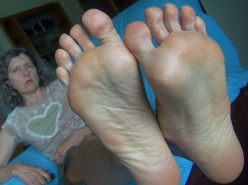 old grannies showing off their feet