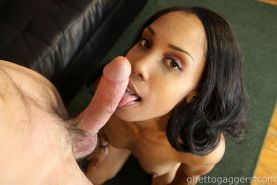 Ebony face fucked rough