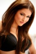 Lucy Pinder teasing in sexy black stockings and garter