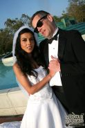 Hot Bride Lou Charmelle goes black in front of her Husband