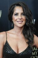 Kelly Monaco showing huge cleavage at the 41st Annual Daytime Emmy Awards in Bev