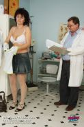Radima visits kinky clinic to have her mature pussy examined