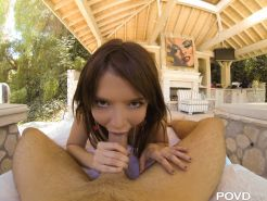 Petite girl squirts during POV fucking