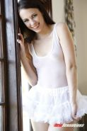 Veronica Radke teen gets nailed in her white tutu