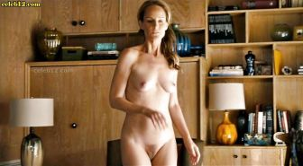 Helen Hunt showing her hairy pussy and posing in see thru dress