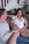Chubby Latina Milking Load from Stiff dick