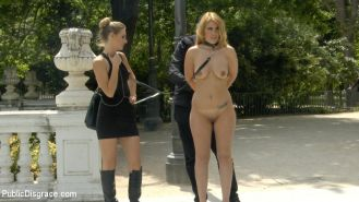 Hanna Montada is a gorgeous busty bondage slut that is stripped fully naked in p