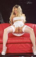 Dirty Blonde Housewife In White Lingerie Toying Tight Snatch