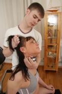 When this dark haired teen was collared and leashed for the first time she knew