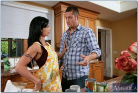Jewels Jade gets her tight asshole drilled in the kitchen