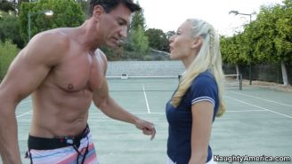 Sexy Katie Summers and her well hung tennis coach