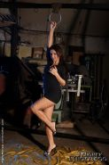 Maria Bellucci in pantyhose is bound and dominated