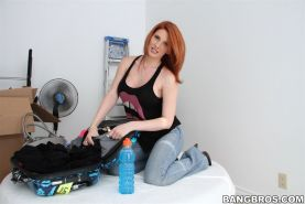 Lilith Lust busty redhead gets banged on a chair