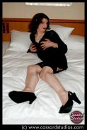 Cassy Cassard playing with two crossdressers