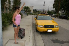 Sexy flexible girl gets drilled hard by the cab driver