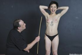 Oriental spanking excercise and boobie caning of whipped and nipple tormented po