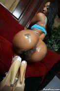 hot ebony teen gets her asshole pounded by a fat black cock