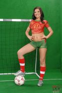 Tracy Miller sexy soccer girl posing for Portugal