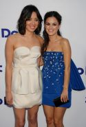 Rachel Bilson and Aubrey Plaza wearing hot tube mini dresses at The To Do List p