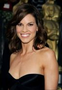 Busty actress Hilary Swank showing her pussy and her breasts
