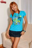 Slik Skinned Redhead Asian Shemale Babe Gets Stiff