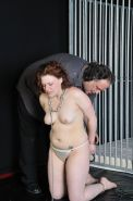Spanking and shame of uk redhead slave Isabel Dean in whipped pussy punishments