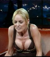 Sharon Stone showing her sweet and sexy pussy under skirt