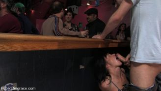 Cecilia Vega fucked in a public bar