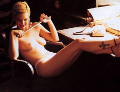 Drew Barrymore showing her nice big tits and great body and posing all nude