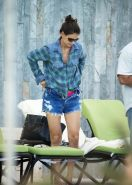 Katie Holmes wearing skimpy pink bikini in Miami Beach