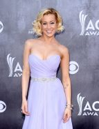 Kellie Pickler busty weraring a strapless dress at the 49th Annual Academy Of Co