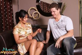 Lana Violet gives a nuru massage to a naked guy