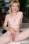 Small titted granny Lynn spreads hairy pussy #73521906