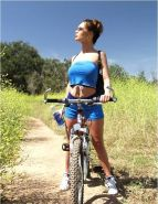 Crissy Moran rides the bike
