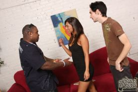 Reena Sky nasty wife fucks a black stranger while cuckhold husband watches