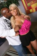 Blonde Bridgette B in interracial anal fuck action