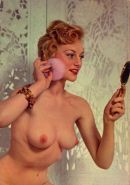 Retro photos with busty girls uncovering their treasures