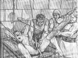 painful horror art and dungeon bdsm