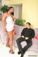 Busty black Aryana Starr rides hard cock ans sucks