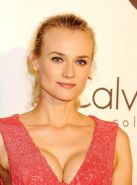 Diane Kruger showing huge cleavage at the Calvin Klein event in Cannes