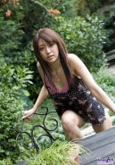 Misa Shinozaki  - Beautiful Asian teen is outdoors showing off